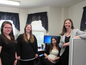 Four women in an office