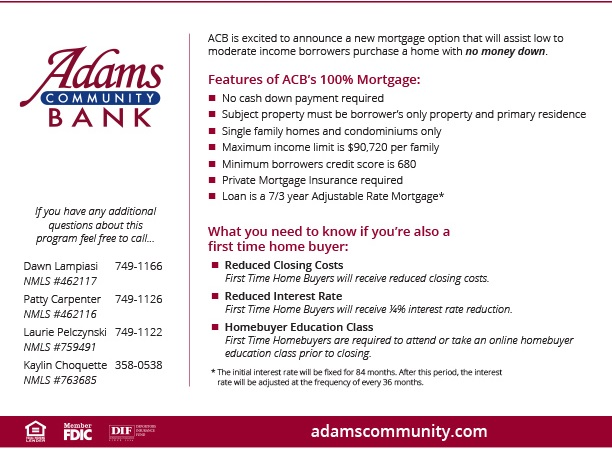 ACB 100% Mortgage