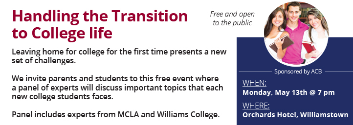 We invite parents and students to this free event where a panel of experts will discuss important topics that each new college students faces.
