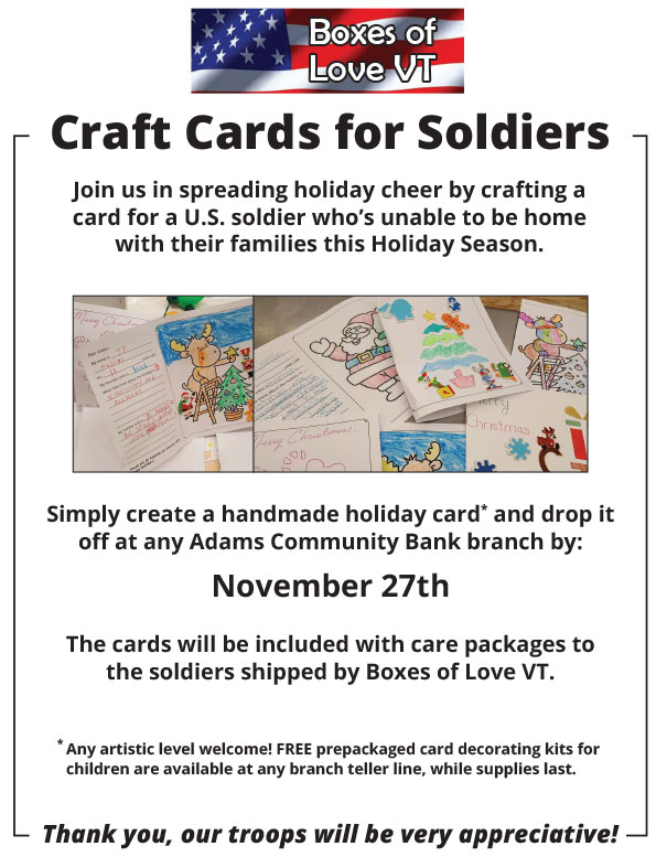 Card for a soldier